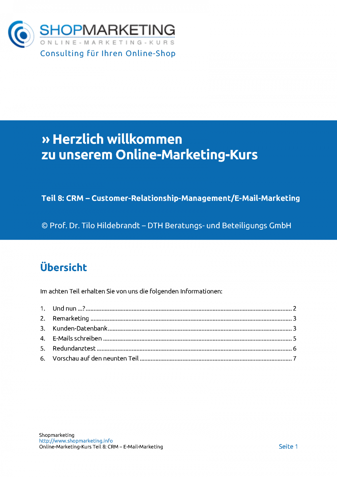Teil 8: CRM/E-Mail-Marketing